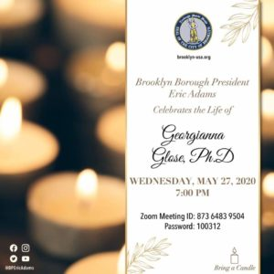 celebrate life of Dr. Georgianna Glose